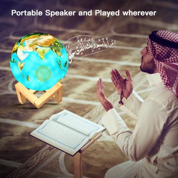 AZAN Quran Speaker lamp Wireless Bluetooth Speakers Muslim Quran Player 16G card veilleuse coranique for Gift