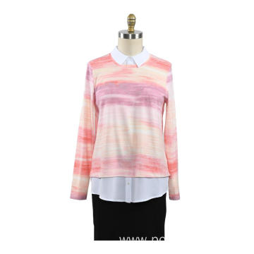 New Women Spring Autumn Shirt Knit Pullover Sweater
