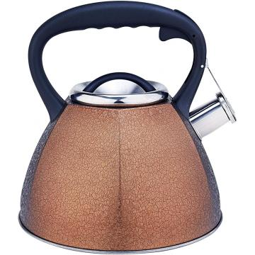 Golden Frosted Stainless Steel Whistling Teapot