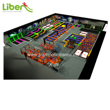 indoor jumping fitness trampoline park for kids