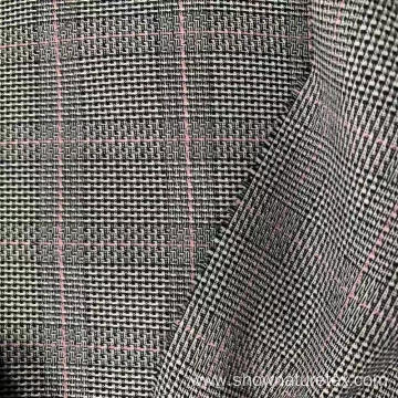 Polyester Stretch Yarn Dyed Checks Fabric