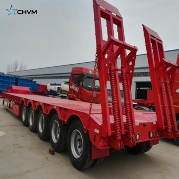 Excavator Transportation 5 Axles Lowbed Trailer