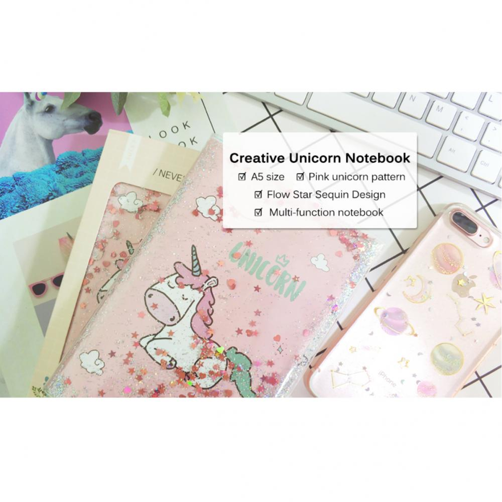 Unicorn Sequins Liquid Notebook 4