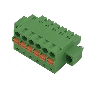 3.81mm pitch female spring screwless terminal block