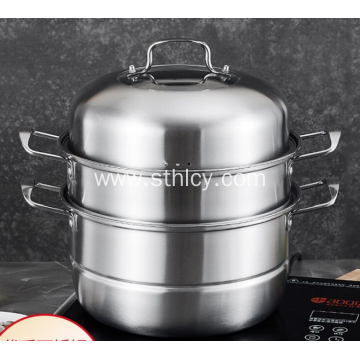 304 Stainless Steel High Quality Double Thick Steamer