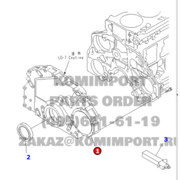 PC400-6 Front Cover 6152-22-3141