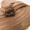 Double drawn machine weft hair with best quality