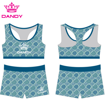Cheap Sublimated Kids Cheerleading Practice Wears