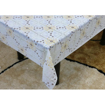 Printed pvc lace tablecloth by roll newspaper