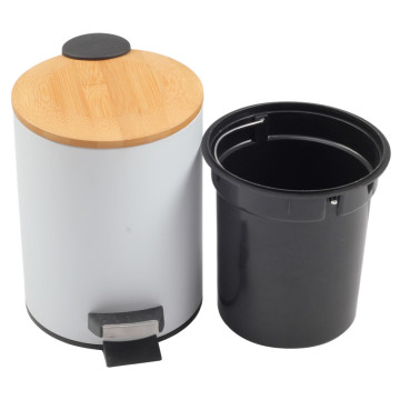 Pedal Bin withToiletBrush with Holder for Home