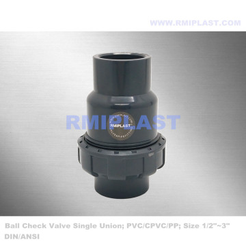 PVC Single Union Ball Check Valve