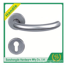SZD STH-118 Polished Stainless Steel Door Handles Lever On Round Square Rose - Solid