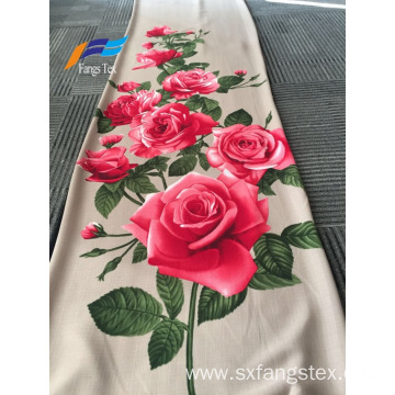100% Polyester British Line Flower Printed Dress Fabric