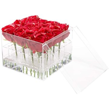 Acrylic Square Luxury Flower Display Box