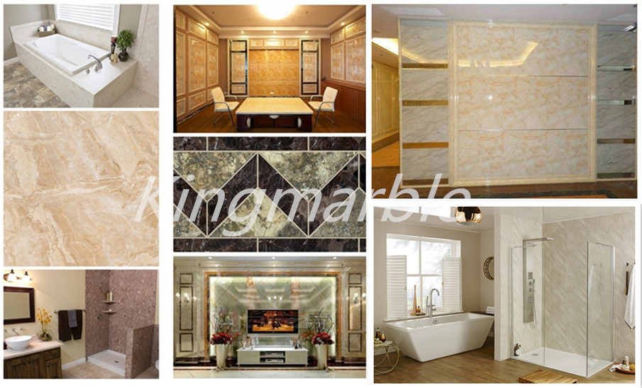 pvc interior marble board for interior decoration