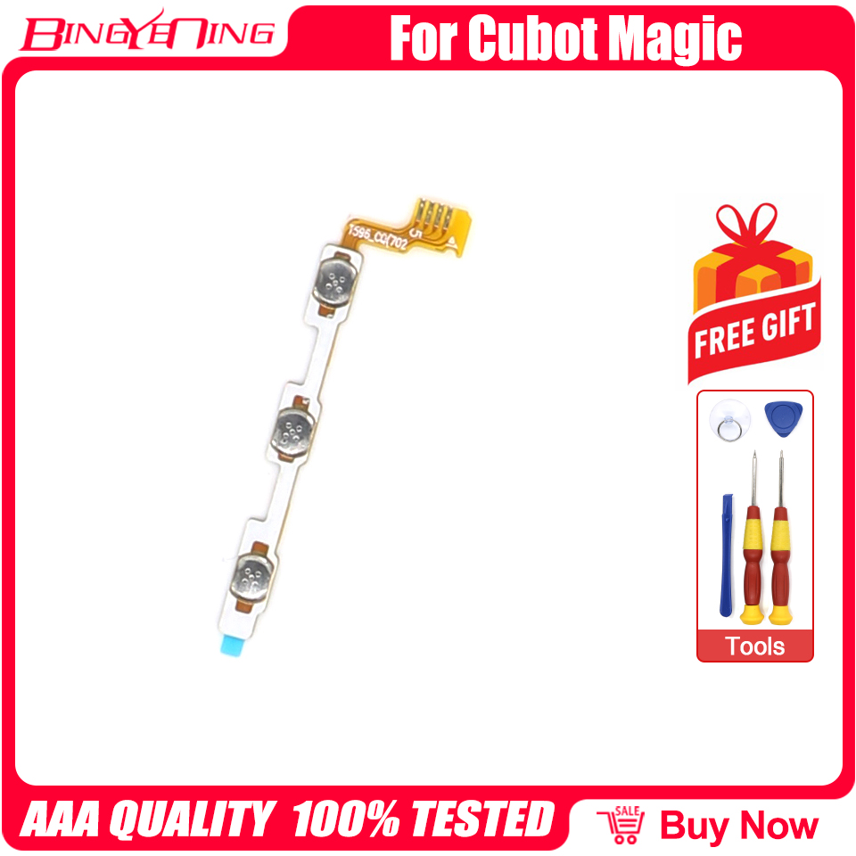 BingYeNing New Original Main Cubot Magic power on/off+ volume FPC Key up/down button flex cable FPC For Cubot Magic Phone