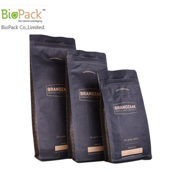 Ziplock Biodegradable Cornstarch Coffee Bag Packaging Wholesale From China