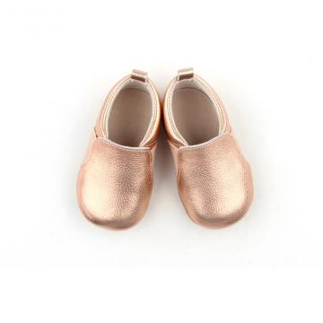 Fashion Gold Leather Baby Boat Casual Shoes