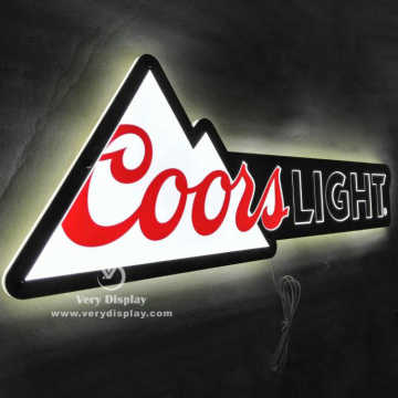 Coorslight metal light sign