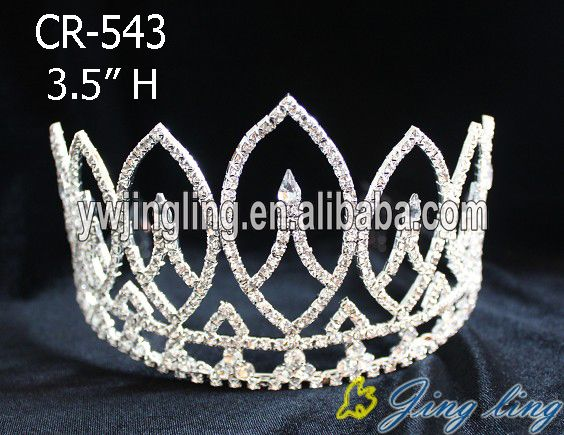 Silver Rhinestone Flower Princess Bridal Tiara Crown