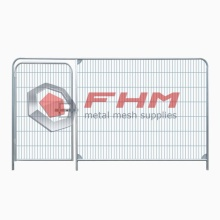 Temp Fencing of Welded Wire for Construction Fence