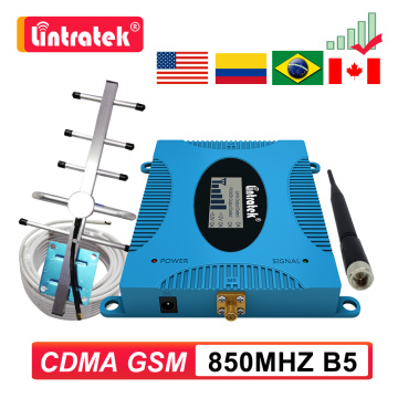GSM CDMA 2G 3G 850 MHZ Signal Repeater B5 850mhz 4G Mobile Phone Cellular Booster Band5 Antenna + 10m Cable LCD Amplifier Kit 7