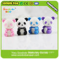 White Black Cute Panda Eraser As Children's Gift