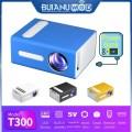 BUIANUWOD T300 LED Mini Projector 640x480 Pixels Supports 1080P HDMI USB Audio Portable Projector Home Media Video Player