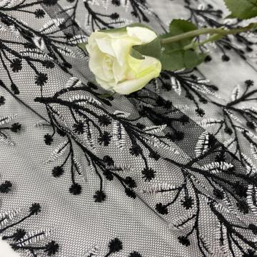 Mysterious  Babysbreath Yarn Mesh Embroidery Fabric