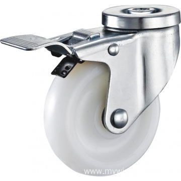 5inch Hollow Pivel Swivel PA Casters With Top Brake