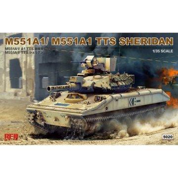 Rye Field Model RFM RM-5020 1/35 M551A1/A1 TTS Sheridan - Scale model Kit