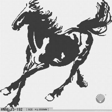 Chinese horse decorative art mosaic tiles