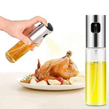 Hot Sale Kitchen Supplies Glass Bottle Barbecue Cooking Seasoning Oil Pot Sprayer BBQ Baking Olive Oil Spray Bottle