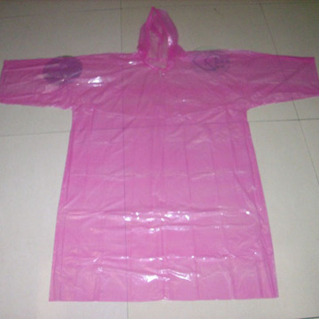 PE plastic outdoor light raincoat with sleeve