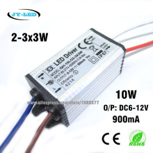 5pcs 10w 2-3x3 900mA DC6-12V High Quality Waterproof LED Driver LED Power Supply IP67 FloodLight Constant Current Driver