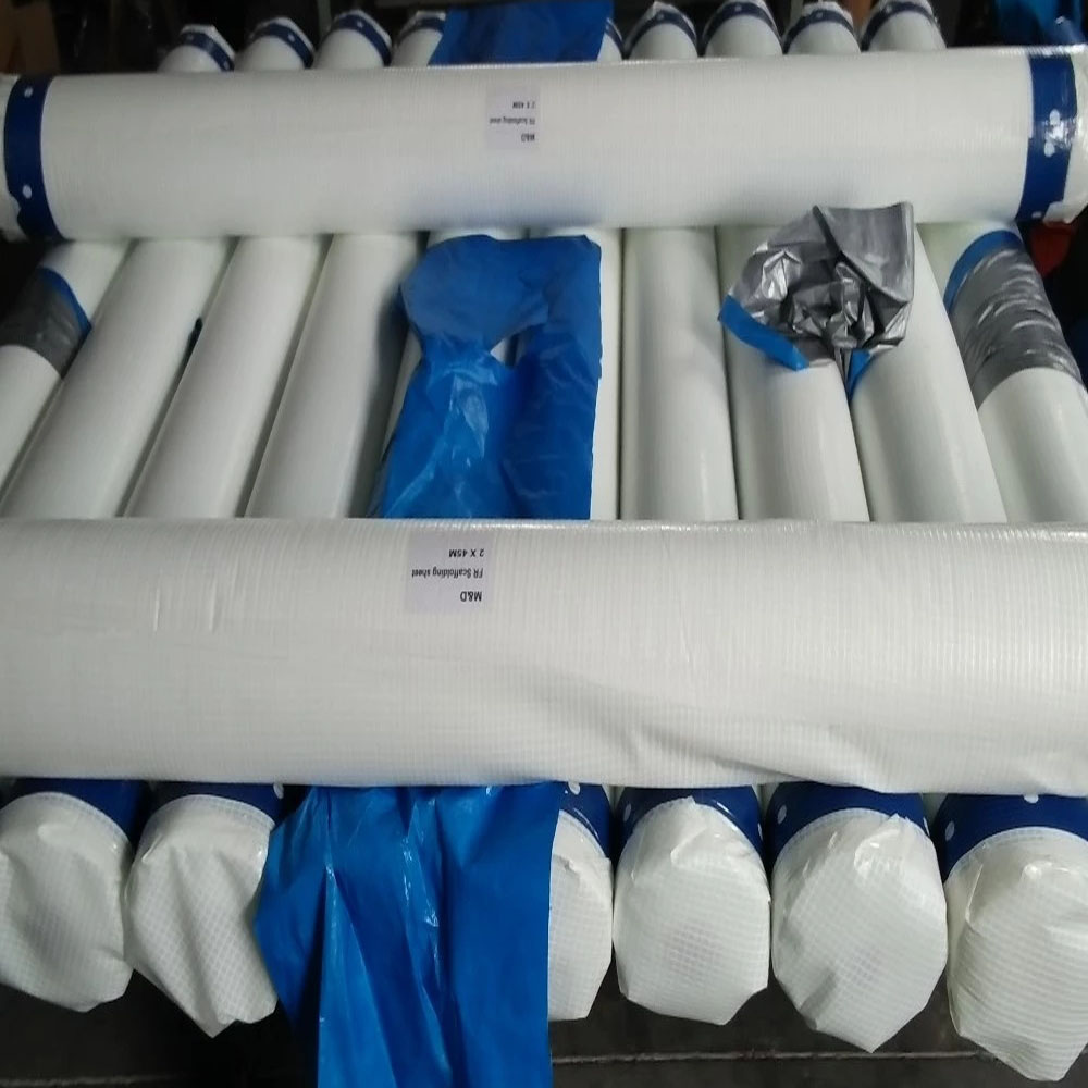 2m X 100m Clear Tarpaulin Scaffold Sheeting Roll