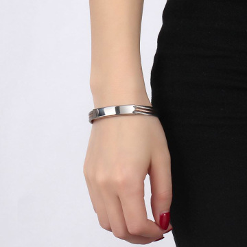 Unisex Stainless Steel Cable Wire Cuff Bracelet