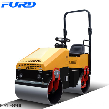 Driving Double Drum Vibratory Road Roller 1000kg