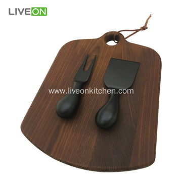 Ash Cutting Board Cheese Knife Set