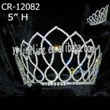 Rhinestone Full Round Crowns CR-12082