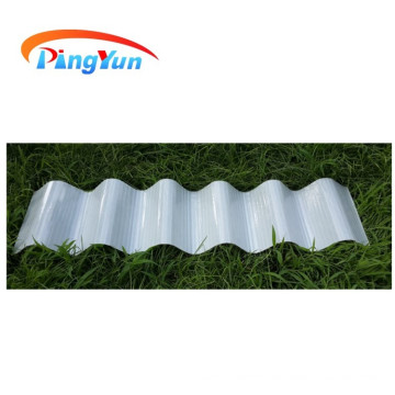 corrugated transparent anti corrosive FRP roof sheet