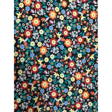 Small Flower Rayon Twill 3024S Printing Woven Fabric