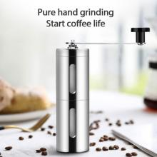 4 Colors Home Office Coffee Grinder Mini Stainless Steel Hand Manual Handmade Coffee Bean Burr Grinders Mill Kitchen Grinder