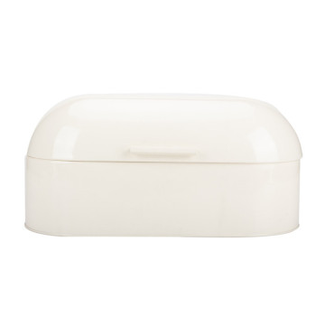 Vintage Cream White Metal Bread Box for Kitchen