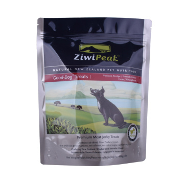 Plastic zipper packaging custom printing pet food pouch