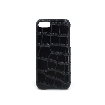 Luxury Custom Embossed Crocodile Skin Leather Phone Case
