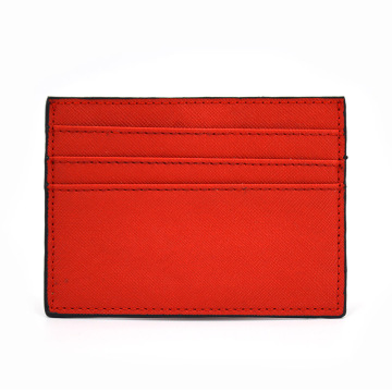 2019 Latest Design Saffiano Leather Credit Card Holder