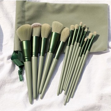 Matcha Green 13 Pcs Professional Makeup Brush Set