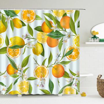 Bathroom Shower Curtain Waterproof Polyester Bathroom Curtain Fresh pineapple Printing Shower Curtain Bath Screen 180X180CM