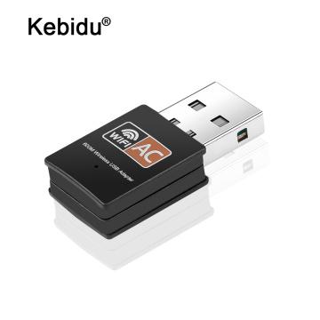 kebidu Wireless USB WiFi Adapter Dual Band 2.4&5.8Ghz 802.11ac 600Mbps wi fi Antenna PC Network Card usb Lan Ethernet Receiver